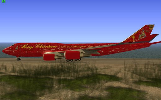 Boeing 747-400 Christmas