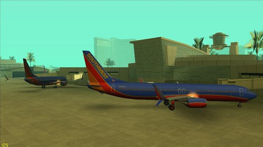 Southwest Airlines 737-800 (Canyon Blue)
