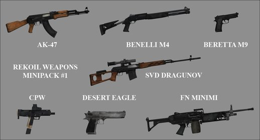 Rekoil Weapons Minipack #1