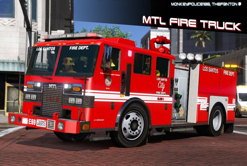Gta 5 Mtl Fire Truck Improved Model Add On Liveries Template