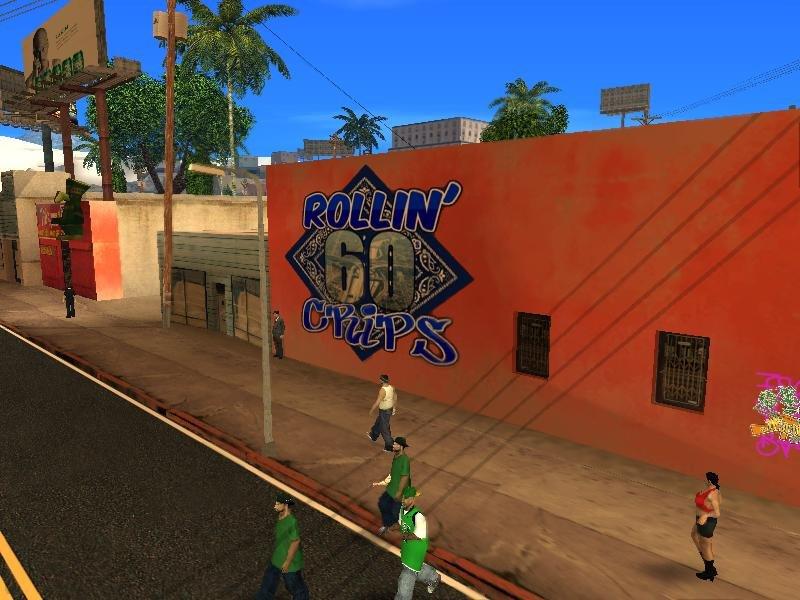 GTA San Andreas Rollin 60 Crips Mural Mod - GTAinside com