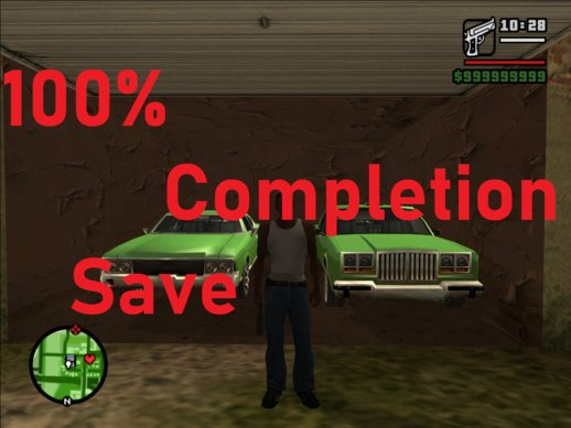 100% Complete Game Save!