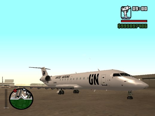 Bombardier CRJ-200 United Nations with CLEO script