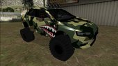 Mitsubishi Evolution X Off Road Camo Shark