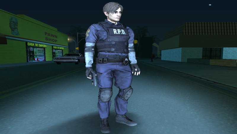 GTA San Andreas Leon Scott Kennedy from RE 2 Remake Mod - GTAinside com