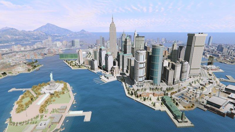 GTA 5 Large Traffic Paths For Liberty City Rewind Mod