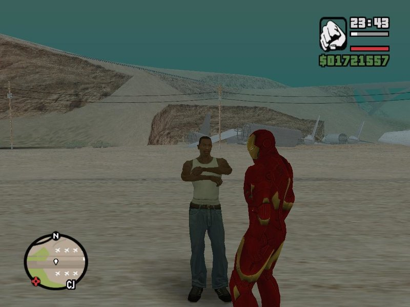 GTA San Andreas Iron Man Fly (update) Mod - GTAinside com