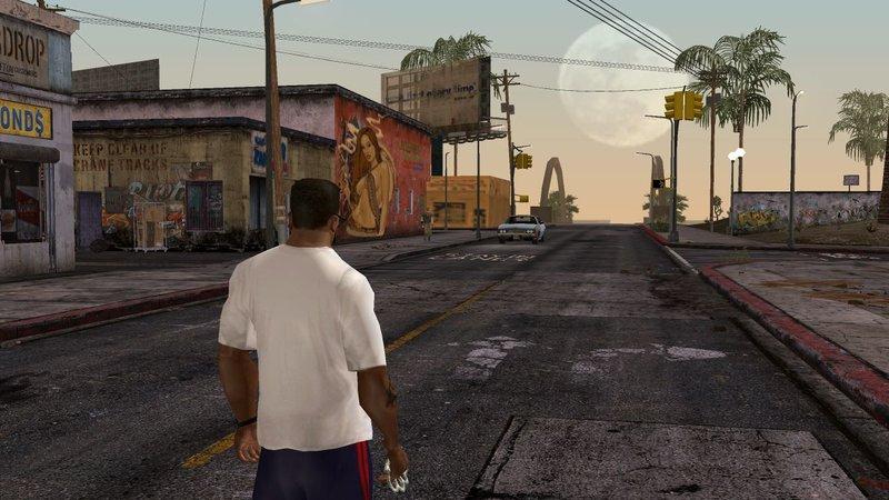 GTA San Andreas East Los Santos - Retextured for Mobile Mod