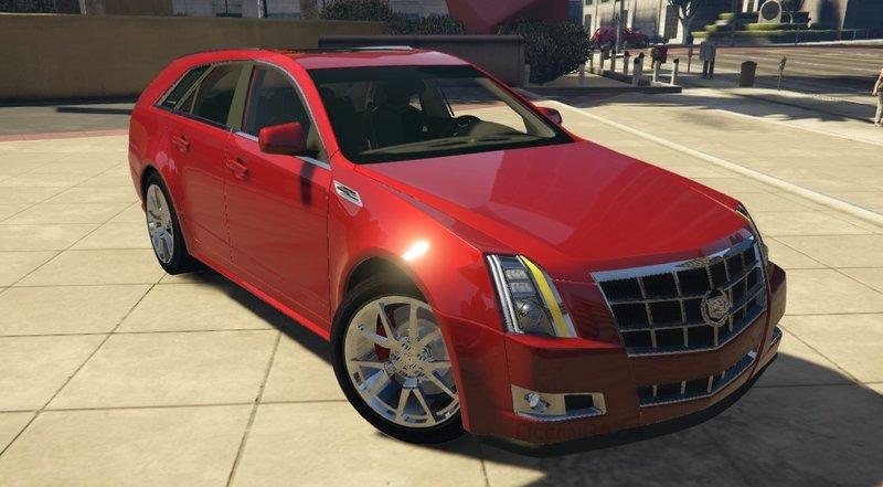 GTA 5 Cadillac CTS Sport Wagon (2010) [Add-On | FiveM] Mod