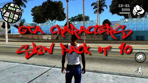 GTA Characters Skin Pack of 10 for Mobile
