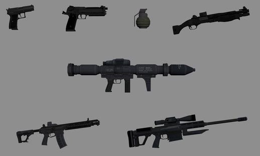 Binary Domain Weapons Minipack