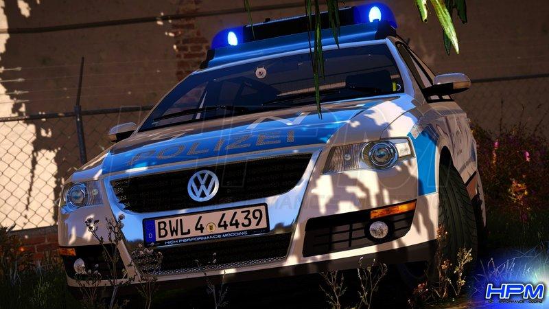 GTA 5 VW Passat B6 Variant Polizei BaWü [AddOn   Replace