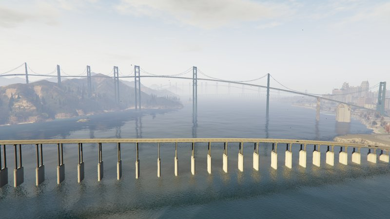 GTA 5 GTA 5 Bridges with traffic paths for Liberty city