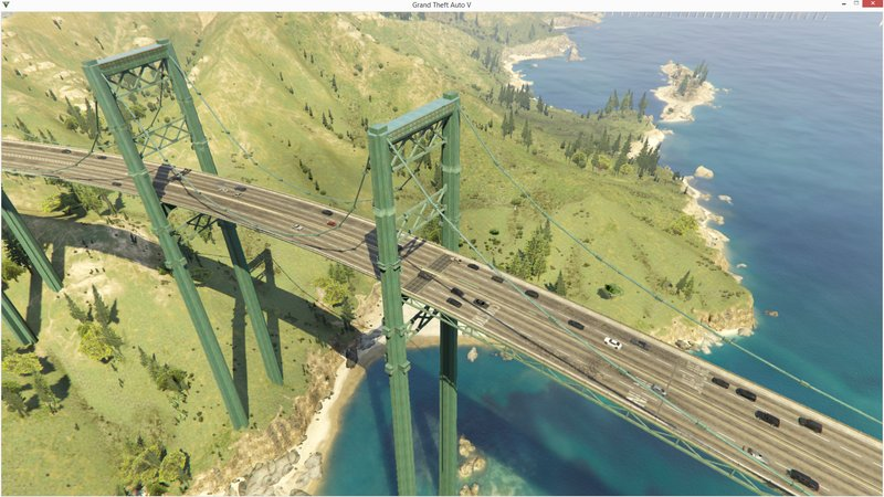 GTA 5 GTA 5 Bridges with traffic paths for Liberty city
