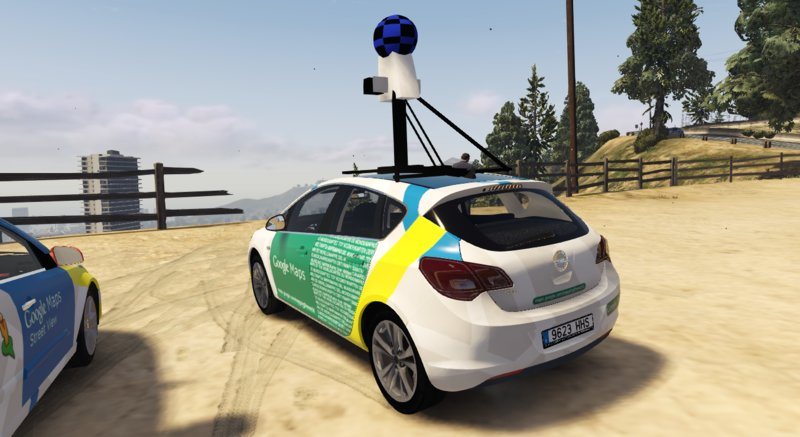 GTA 5 2009 Opel Astra J Google Maps Street View [FiveM-Replace] Mod