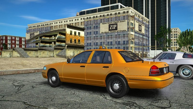 GTA San Andreas Ford Crown Victoria Taxi Mod - GTAinside com