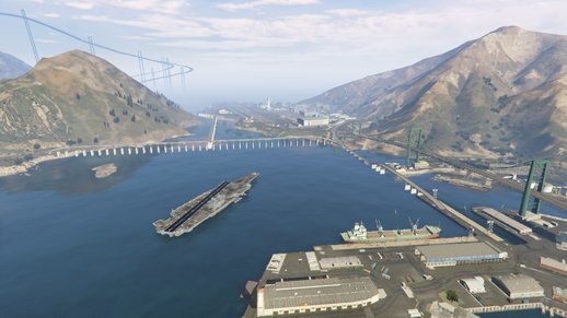 GTA 5 Aircraft Carrier For Fort Zancudo Island