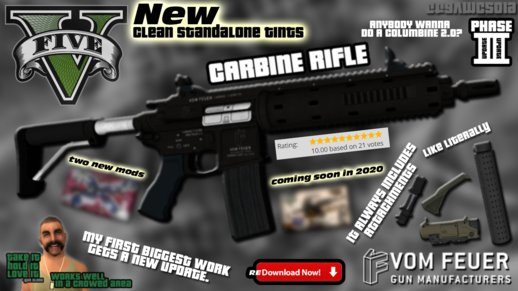 GTA V Vom Feuer Carbine Rifle [Revamped GTAinside.com Release] (Updated Phase II Redux)