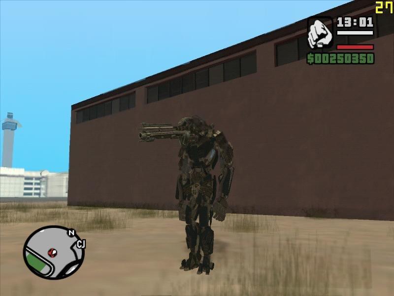 GTA San Andreas Lockdown Gunface Mod