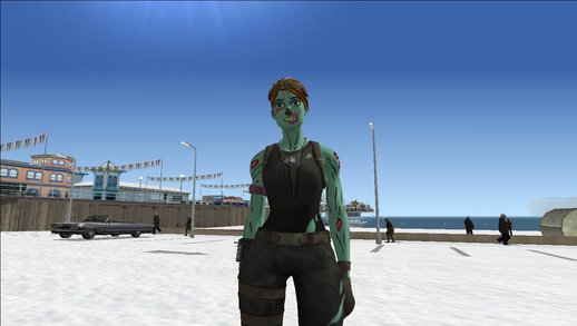 Ghoul Trooper Female From Fortnite