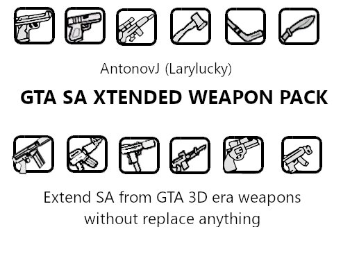 GTA Xtended Weapon pack