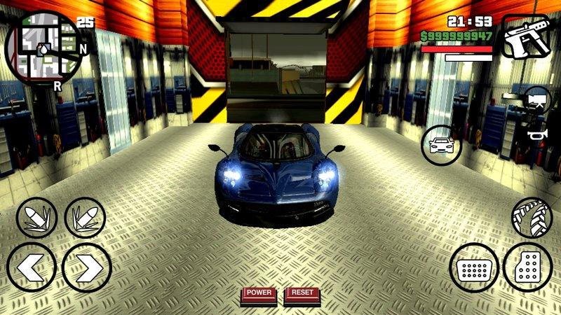 GTA San Andreas Pagani Huayra For Mobile (dff+txd) Mod - GTAinside com