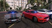 2015 Ford Mustang GT 50 Years Special Edition Police Canary Islands [Marked Unmarked Add-on Tunning]