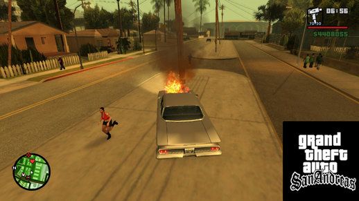 Peds Afraid Of The Burning Car