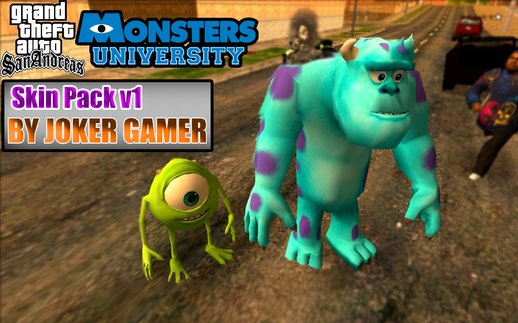 Monsters University SKIN Pack V1.0