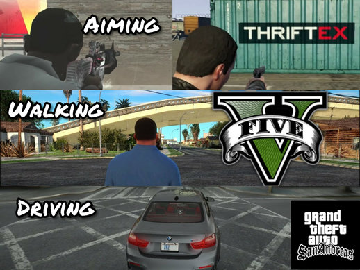 GTA V Full Camera Style For GTA SA