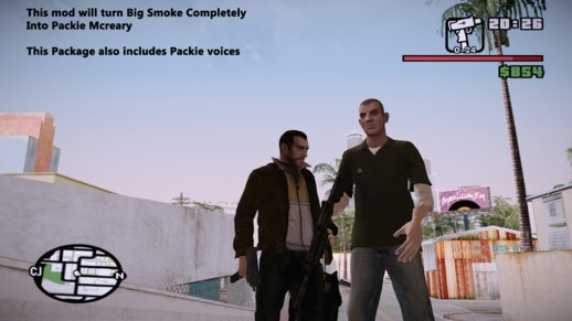 Turn GTA SA Big Smoke Into Packie Mcreary