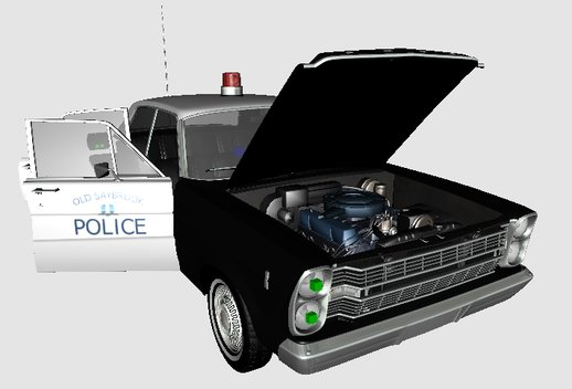 Ford Galaxie 1966 Police