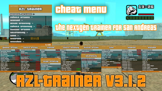 RZL-Trainer v3.1.2 (Cheat Menu)