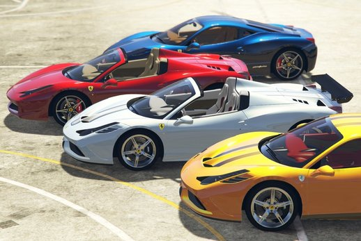 Ferrari 458 Italia, Spider, Speciale & Aperta [Add-On | Tuning | Animated Roof | Livery]