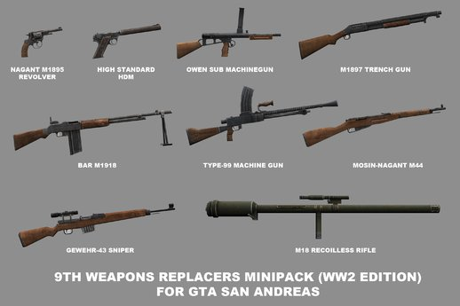 9th Weapons Replacers Minipack (WW2 Edition)