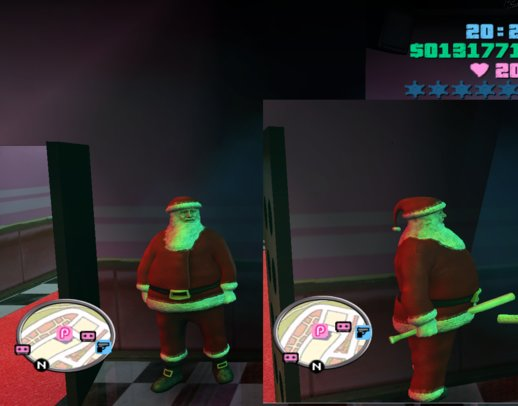 Santa Clous Model Player skin