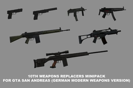 10th Weapons Replacers Minipack (German Modern Weapons Edition)