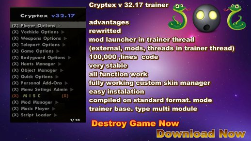 Trainer Cryptex v32.17 vip