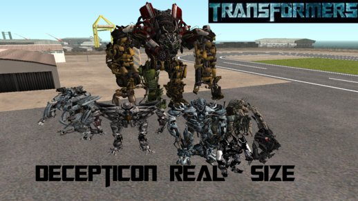 Transformers Decepticons Real Size Pack