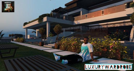 Luxury_Wardrobe Style Pack for Franklin Octopus t-shirt / Emporio Armani EA7 / Jordan 1 Retro High Off-White University Blue shoes