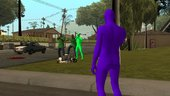 GTA:O Green & Purple Alien Bodysuits