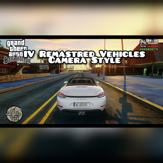 GTA SA IV Reamastered Vehicles Camera Style