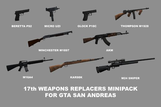 17th Weapons Replacers Minipack (PUBG Weapons References Edition)