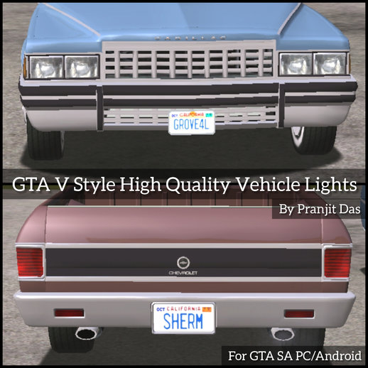 GTA V Style High Quality Vehicle Lights for Android/PC