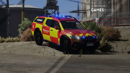 Portuguese Fire Department Volunteers - Mercedes-Benz X-Class x250d [ Add-On | Reflective | ELS ]