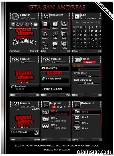 Nokia S60 GTA SA Theme