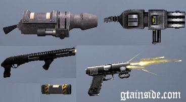Armas,autos y algunos mod para gta san andreas.