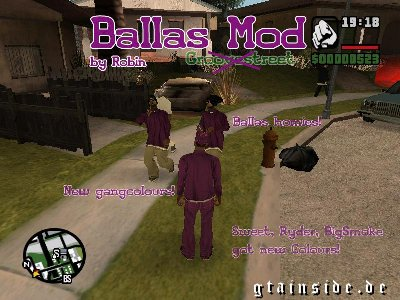 Ballas mod - Be the ballas!