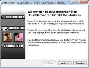 MNS نقشه Unistaller نسخه. 1.0