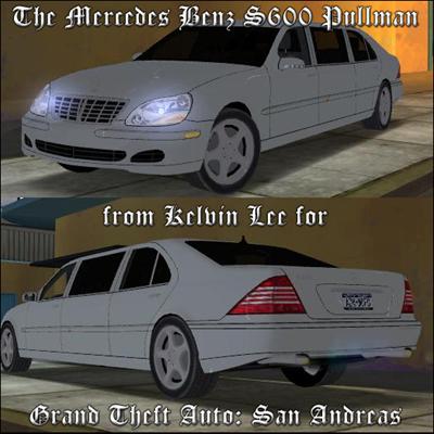 [Mods GTA San Andreas]Carros - Mercedes-Benz S600PullmanScreen